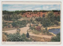 Hamilton Ontario - Rock Gardens - Carte Folkard Postcard - Written In 1950 - Stamp & Postmark  - 3 Scans - Hamilton