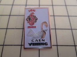 Pin511b Pin's Pins : Rare Et Belle Qualité : ASSOCIATIONS LIONS FRANCE CAEN VIKING - Associations