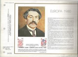 Premier Jour ,EUROPA , ARISTIDE BRIAND, 1980  , Document De La Poste, Frais Fr 1.55 E - Documents De La Poste