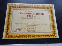 établissement THERMAL D'URIAGE (1961) Isère - Shareholdings