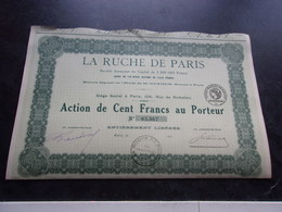 LA RUCHE DE PARIS - Shareholdings