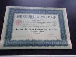 MERCURE & VULCAIN (100 Francs,capital 1,250 Million) Imprimerie RICHARD - Shareholdings