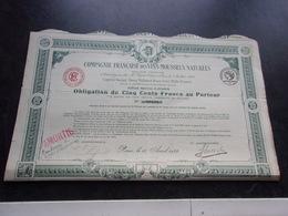 Compagnie Française Des VINS MOUSSEUX NATURELS (1922) - Shareholdings