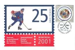 2001- International Postal Hockey Tournament S44 - Enveloppes Commémoratives