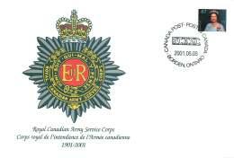 2001- Royal Canadian Army Service Corps Centenary S45 - Enveloppes Commémoratives