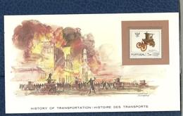 HISTOIRE DES TRANSPORTS - TIMBRE NEUF PORTUGAL SUR CARTE  - POMPE A INCENDIE - POMPIERS - Otros (Tierra)