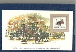 HISTOIRE DES TRANSPORTS - TIMBRE NEUF PORTUGAL SUR CARTE  - CAMION DE POMPIERS - Camiones