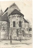 COSNE . EGLISE St-AIGNAN . AFFR LE 9-10-1904 AU VERSO . 2 SCANES - Cosne Cours Sur Loire