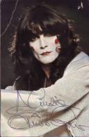 Autografo Renato Zero, Cantante, Su Cartolina Con Discografia - Autographs