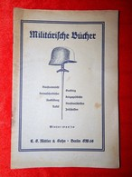 Militarische Bucher 1929/30 - Unclassified