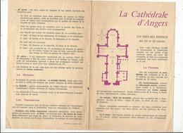 4 Pages , LA CATHEDRALE D'ANGERS , 2 Scans , Frais Fr 1.45 E - Dépliants Turistici