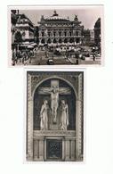 PARIS - 75 - LOT 2 CARTES PHOTOS - OPERA GARNIER , BASILIQUE SACRE COEUR De MONTMARTRE Le TABERNACLE Du Grand Autel - France