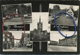 Enghien :  Un Bonjour - Groeten Uit Edingen ( 15 X 10.5 Cm ) - Enghien - Edingen