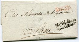 PARIS LAC Du 17/02/1799 Signée Du Contre Amiral DE BRUIX Préparation Campagne D 'Espagne Marque Sénéchal N°929a - Marcophilie (Lettres)