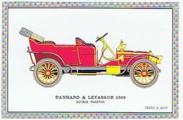 VOITURE  PANHARD &  LEVASSOR  1908    DOUBLE PHAETON DESSIN A KOW  ****   RARE    A   SAISIR ***** - Cartes Postales