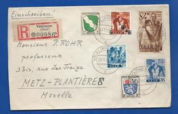 Enveloppe Avec Affranchissement Multiple  Oblitération:  VÖLKLINGEN 26-11-1947 - Briefe U. Dokumente