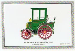 VOITURE  PANHARD &  LEVASSOR  1895   LE PREMIER COUPE   DESSIN A KOW  ****   RARE      A   SAISIR ***** - Cartes Postales