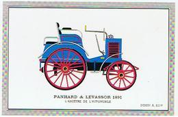 VOITURE  PANHARD &  LEVASSOR  1891   L ANCETRE DE L AUTOMOBILE  DESSIN A KOW  ****   RARE      A   SAISIR ***** - Cartes Postales
