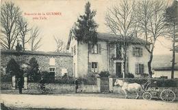 19 - LAGUENNE La BRASSERIE Près  De TULLE - RARE - ATTELAGE DEAVANT LA BRASSERIE - ANIMEE - France