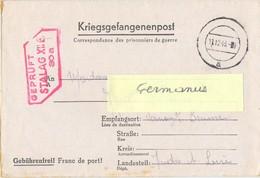 GUERRE 39-45  COR. DES PRISONNIERS DE GUERRE - STALAG XII F /30a Forbach - Rédigé Le 5-11-1943 - Marcophilie (Lettres)