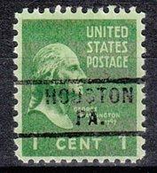 USA Precancel Vorausentwertung Preo, Locals Pennsylvania, Houston 729 - Vereinigte Staaten