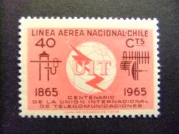 CHILE 1965 Telecomunicaciones UIT Yvert PA 222 ** MNH - Chile