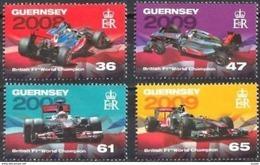 Guernsey Guernesey 2011 Yvertn° 1373-1376 *** MNH Formule I - Guernesey