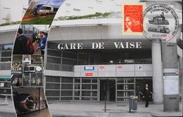 CPM.- FRANCE - Lyon > Lyon 9e - Gare De VAISE - 150e Anniv. De L'Arrivée Du Chemin De Fer à Vaise - Daté 03.12.2004 -TBE - Lyon 9