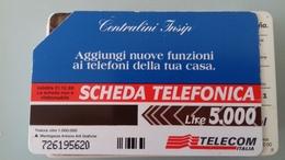 TELECARTE TELECOM ITALIE - 5000 LIRES - 31/12/98 - CENTRALINI INSIP - Italy