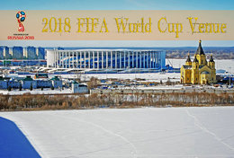 [T31-009 ] 2018 Russia FIFA World Cup Soccer Football Venue Stadium , China Pre-stamped Card, Postal Stationery - World Cup