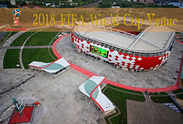 [T31-011 ] 2018 Russia FIFA World Cup Soccer Football Venue Stadium , China Pre-stamped Card, Postal Stationery - World Cup