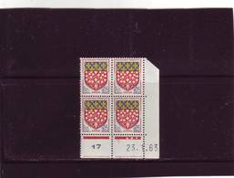 N° 1352 - 0,05F Blason D'AMIENS - C De C+D - 1° Tirage Du 8.1.63 Au 5.3.63 - 23.01.1963 - - 1960-1969