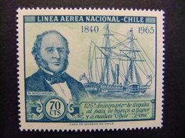 CHILE 1966  La Llegada Del Barco De Vapor Yvert PA 231 ** MNH - Chile