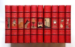 1930-1931 Courteline Oeuvres Gus Bofa Forain Dignimont Falké Dunoyer De Segonzac Reliure Mosaïquée Signée - Books, Magazines, Comics
