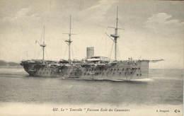 Military, Navy, Tourville Battleship, Old Postcard - Militaria