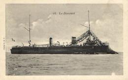 Military, Navy, Davoust Battleship, Old Postcard - Militaria