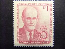CHILE 1970 Paul Harris - Rotary International Yvert PA 265 ** MNH - Chile