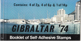 GIBRALTAR     SCOTT NO. 309A      LOT NO. 918    MNH     YEAR  1974     BOOKLET - Gibraltar