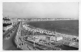 (RECTO / VERSO) LES SABLES D' OLONNE EN 1959 - N° 4501 - VUE GENERALE - LE REMBLAI - BELLE FLAMME - FORMAT CPA VOYAGEE - Sables D'Olonne