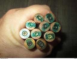 Lot  10 Cartouches 7,92  Mauser Allemande Neutralisées  Légères Cuivrées LS - Decorative Weapons