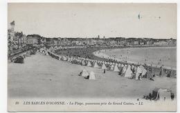 (RECTO / VERSO) LES SABLES D' OLONNE EN 1923 - N° 10 - LA PLAGE - CACHET AMBULANT TRI FERROVIAIRE - CPA VOYAGEE - Sables D'Olonne