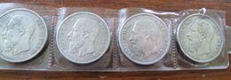 Lot De 4 Pièces / Monnaies 5 Francs Argent - Belgique - 1865-1909: Leopold II