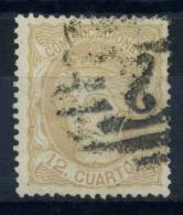 Espagne 1870 Mi. 107 Oblitéré 100% 12 Cs, Espagne - 1868-70 Provisional Government