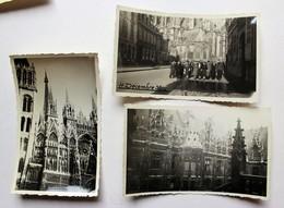 1938 3 Photos Originales Rouen - Luoghi
