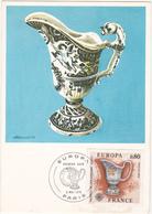 FDC - 1976 PARIS / EUROPA / FAIENCE DE STRASBOURG - XVIIIe  / Timbre 0.80 - FDC