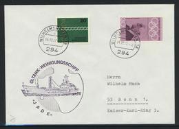 "B-286, BRD, Marine-Schiffspost / Bordstempel, Tankreinigungsschiff A 1642 ""Jade"" - [7] Federal Republic"