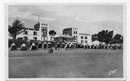 (RECTO / VERSO) LA TRANCHE SUR MER EN 1948 - N° 44 - HOTEL DE L' OCEAN ET LA PLAGE - BEAU CACHET - FORMAT CPA VOYAGEE - La Tranche Sur Mer