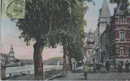 Dinant - Promenade Du Quai De La Meuse - Circulé En 1908 - Animée - TBE - Dinant