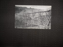 Hermalle - Sous - Huy   :   La Construction Du Pont  -  N° 14742  -  Rare - Huy