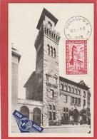 Carte Maximum - Monaco - 1949 - Poste Aérienne N°40 (YT) Institut Océanographique De Paris - Maximum Cards